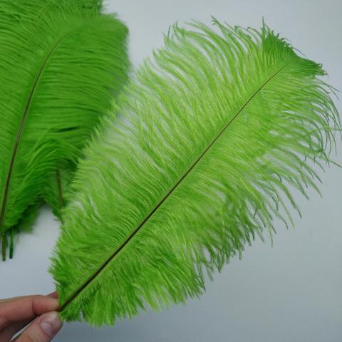 Перья страуса  декоративные  30-35 см. 25 шт. салатовый