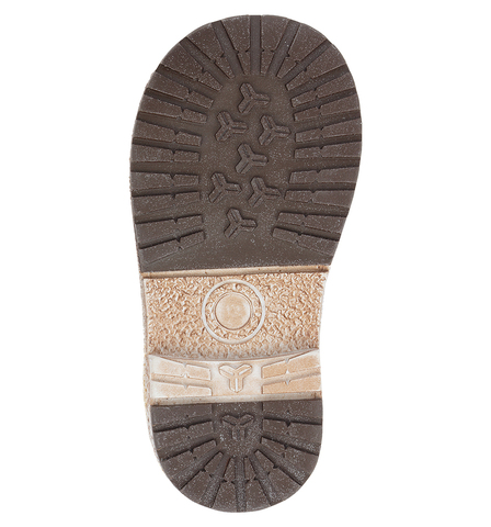 Ботинки для мальчиков Лель (LEL) из натуральной кожи на байке на липучках цвет коричневый. Изображение 6 из 6.