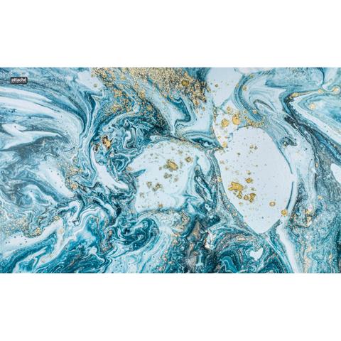 Коврик на стол Attache Selection 35x59см Fluid серый, ламинированный картон