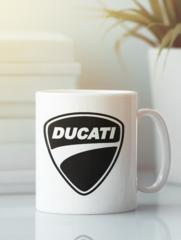 Кружка с рисунком Ducati (Дукати) белая 004