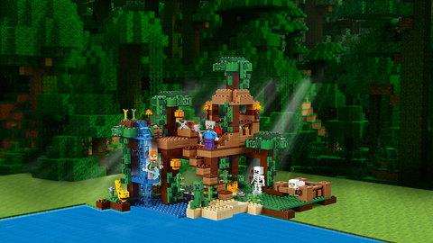 LEGO Minecraft: Домик на дереве в джунглях 21125 — The Jungle Tree House — Лего Майнкрафт