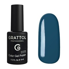 Grattol, Гель-лак 003, Blue, 9 мл
