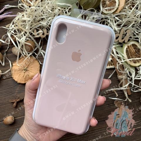 Чехол iPhone XS Max Silicone Case Full /pink sand/ розовый песок
