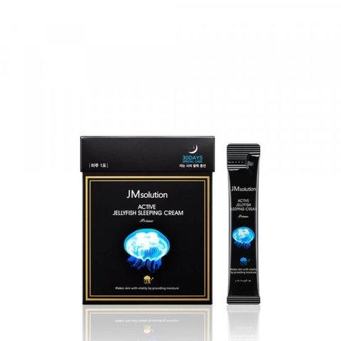 JMsolution Active Jellyfish Sleeping Cream Prime ночная увлажняющая маска с экстрактом медузы