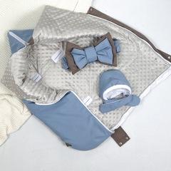 СуперМамкет. Конверт-одеяло всесезонное Мультикокон ®, Soft, blue stone вид 3