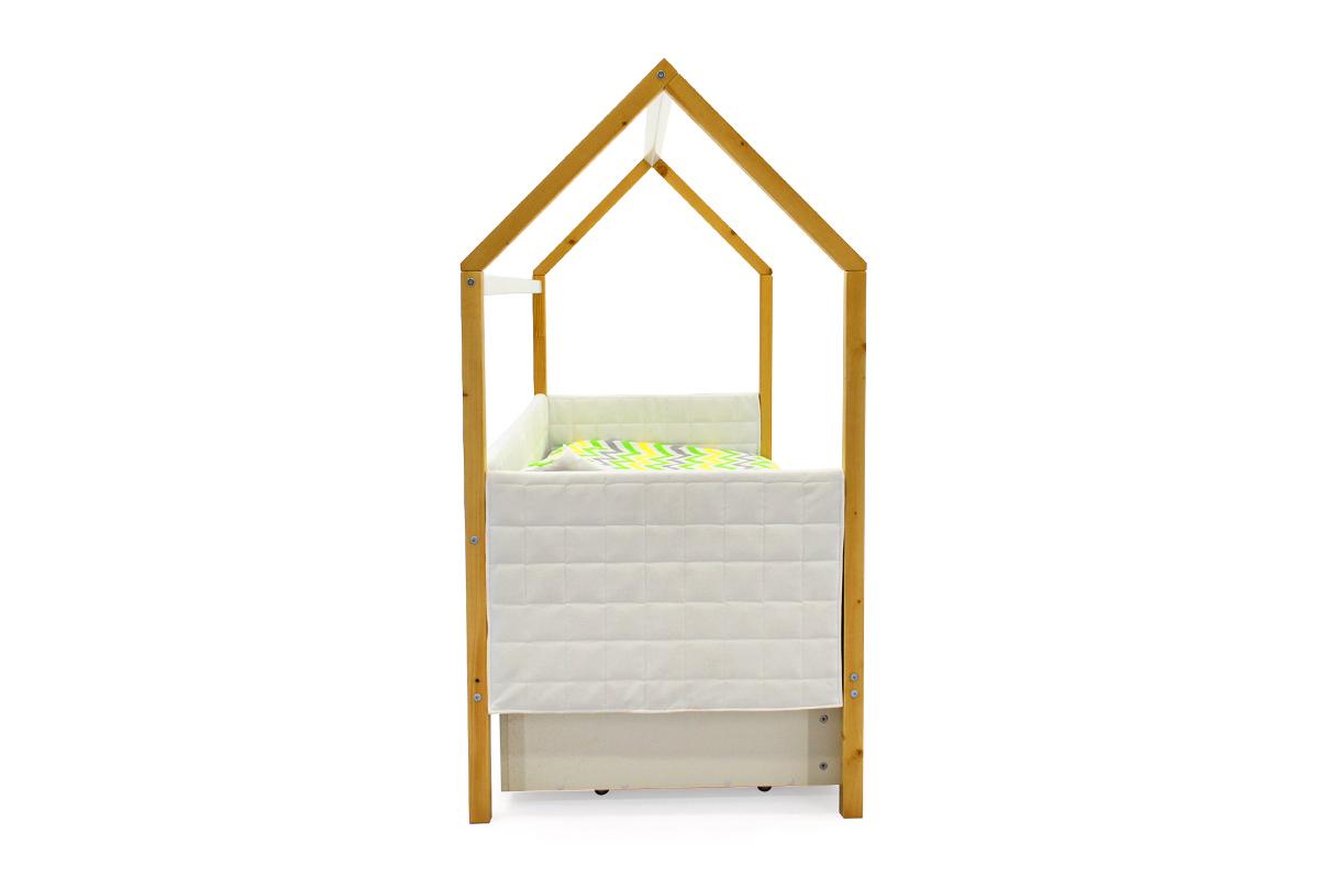 Кровать-домик мягкий «Svogen дерево-белый»