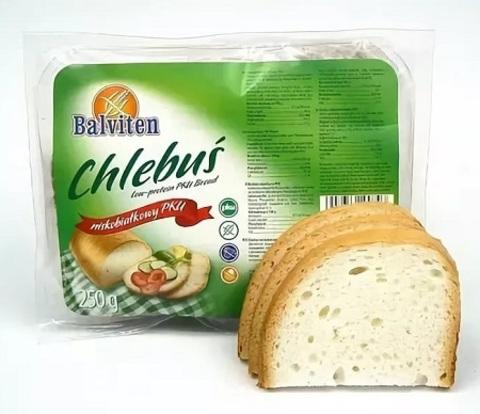 Хлеб низкобелк Chlebus ФКУ 250г Balviten
