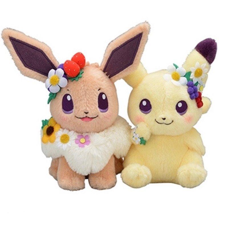 Покемон мягкие игрушки Пикачу и Иви