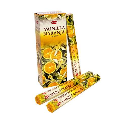 Палочки ароматические благовония HEM Ваниль Апельсин Vanilla Orange 20 шт