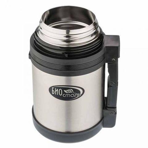 Термос универсальный (для еды и напитков) Biostal (1 литр), стальной