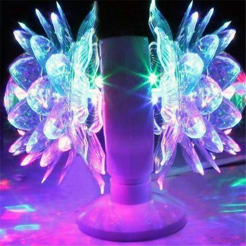 Светодиодная вращающаяся диско лампа Лотос