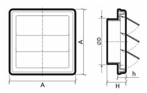 Инерционная решетка ф125