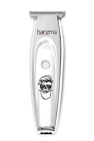 Триммер окантовочный Harizma T-Xpert, аккум/сетевой, 0,1 мм, 3 насадки, серебристый