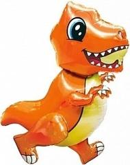 Ходячий шар Маленький динозаврик оранжевый