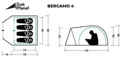Палатка Trek Planet Bergamo 4 - 2