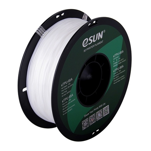 ESUN eTPU95A, 1.75 мм, 1 кг, белый