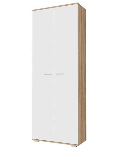 Шкаф  ИТАЛИЯ ШК-800 дуб сонома / белый глянец