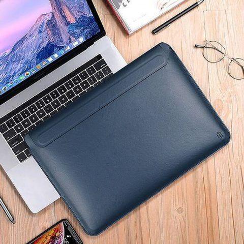 Папка конверт для MacBook New 13'' Wiwu Skin Pro2 Portable Stand /blue/