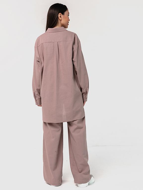 Льняной костюм бежевый YOS