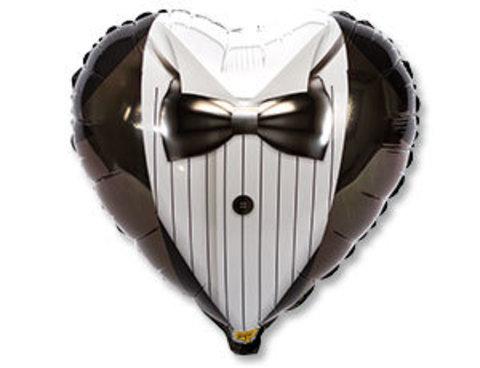 Фольгированный шар сердце Жених