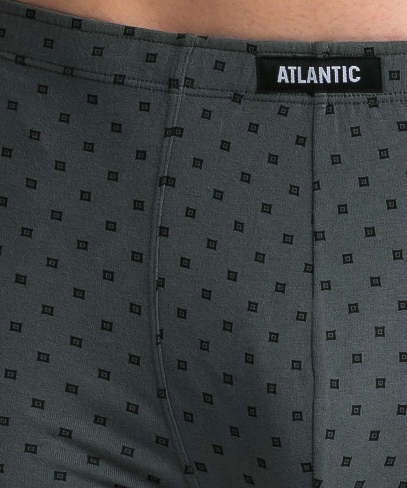 Мужские трусы шорты Atlantic, набор из 3 шт., хлопок, черные + серый меланж + хаки, 3MH-030