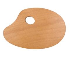 Палитра TRANSON деревянная овальная