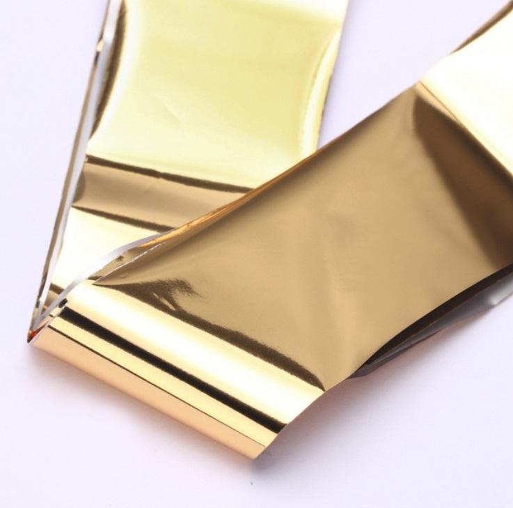 Фольга для дизайна ногтей (золото)