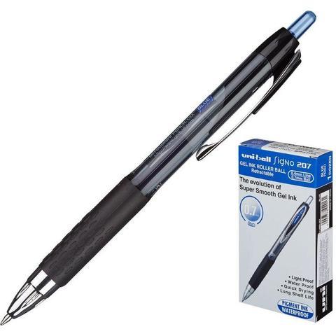 Ручка гелевая автоматическая Uni Signo UMN-207 синяя (толщина линии 0.4 мм)
