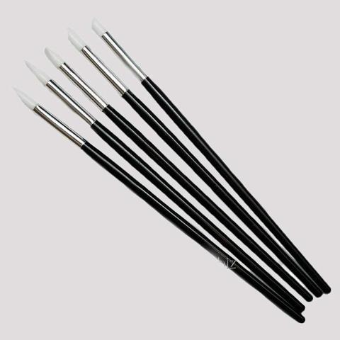 Кисточки-стеки силиконовые для моделирования 20см, 5шт