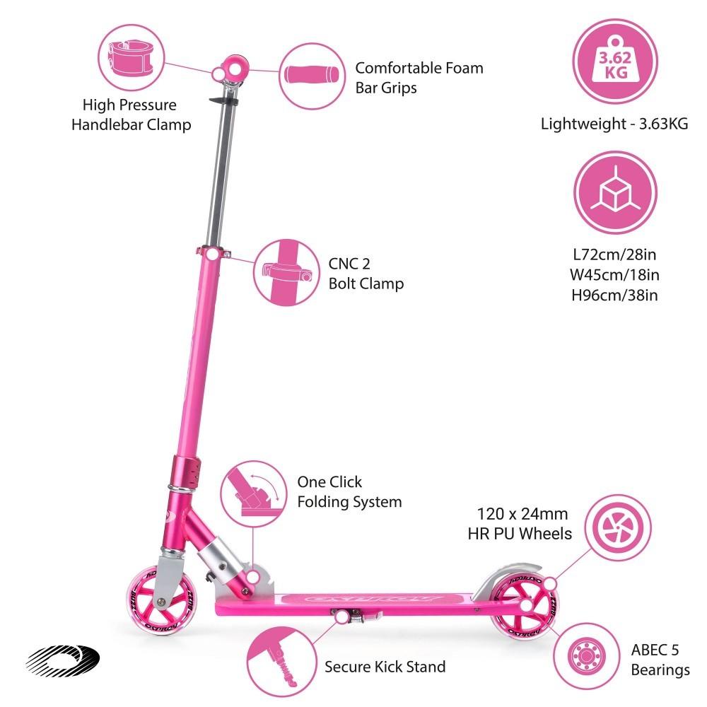 SK2017 osprey folding scooter pink