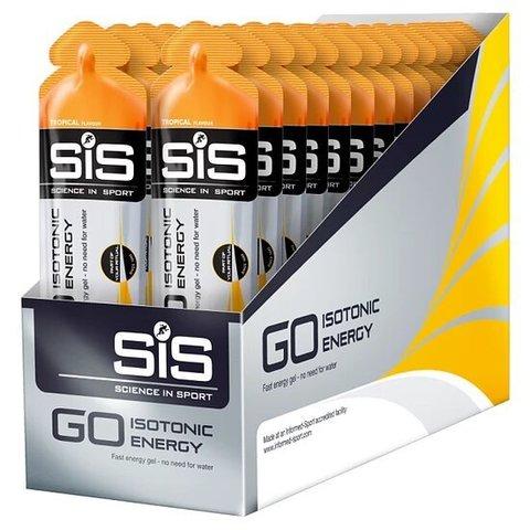 SiS Go Isotonic Gel, упаковка 30х60 ml, Тропические фрукты, (Великобритания