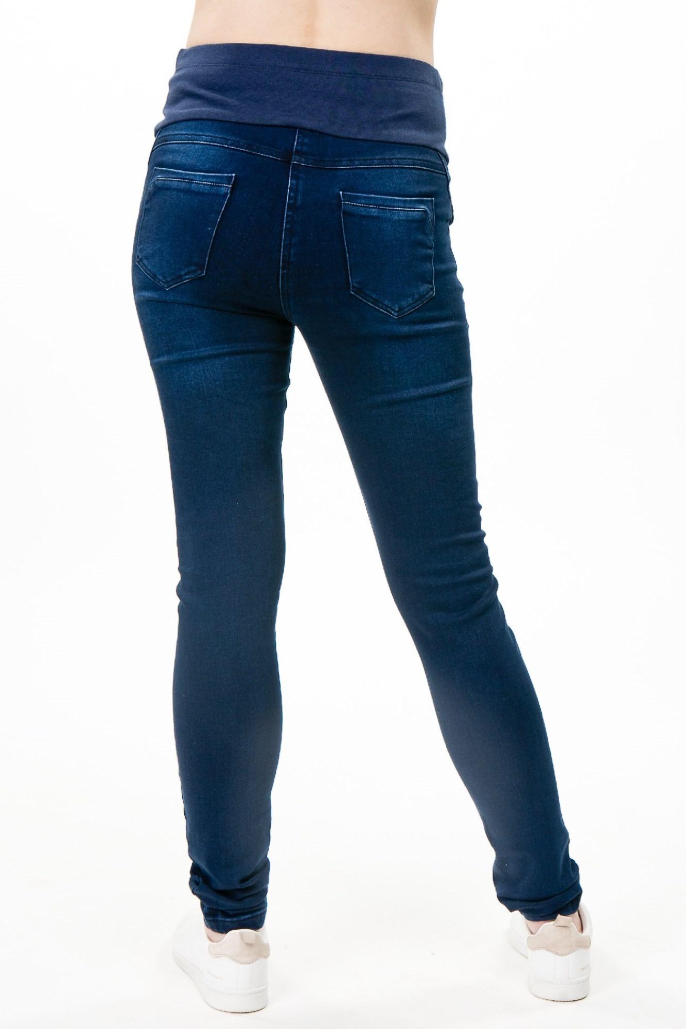 Утепленные джинсы для беременных (SKINNY) 09279 синий