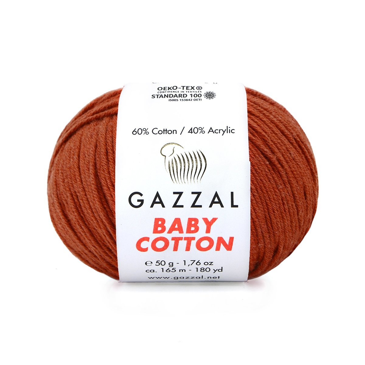 Пряжа Gazzal Baby Cotton 3453 терракот