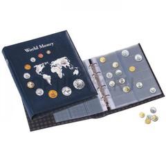 """Альбом для монет OPTIMA, """"World Money"""" включая 5 листов для монет, синий"""