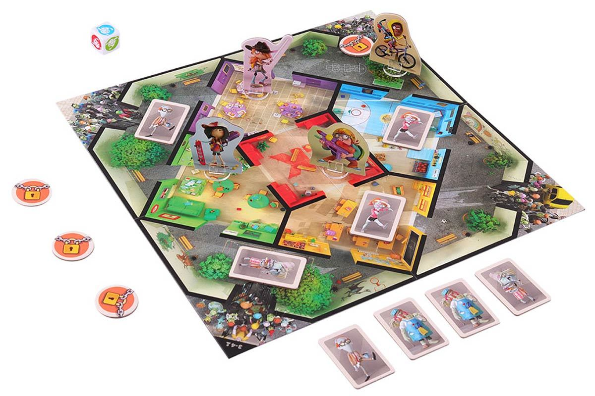 Настольная игра Зомби в школе: игровое поле