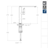 Смеситель для кухни KITCHEN 388401MCNC никель - фото №2