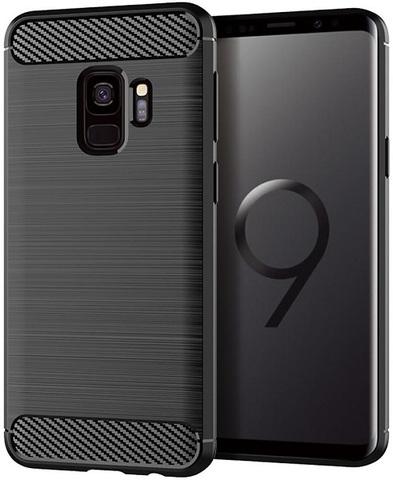 Чехол Samsung Galaxy S9 цвет Black (черный), серия Carbon, Caseport