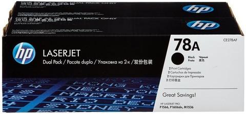 Оригинальный картридж HP CE278AF (№78), чёрный (двойная упаковка)