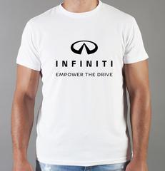 Футболка с принтом Infiniti (Инфинити) белая 0011