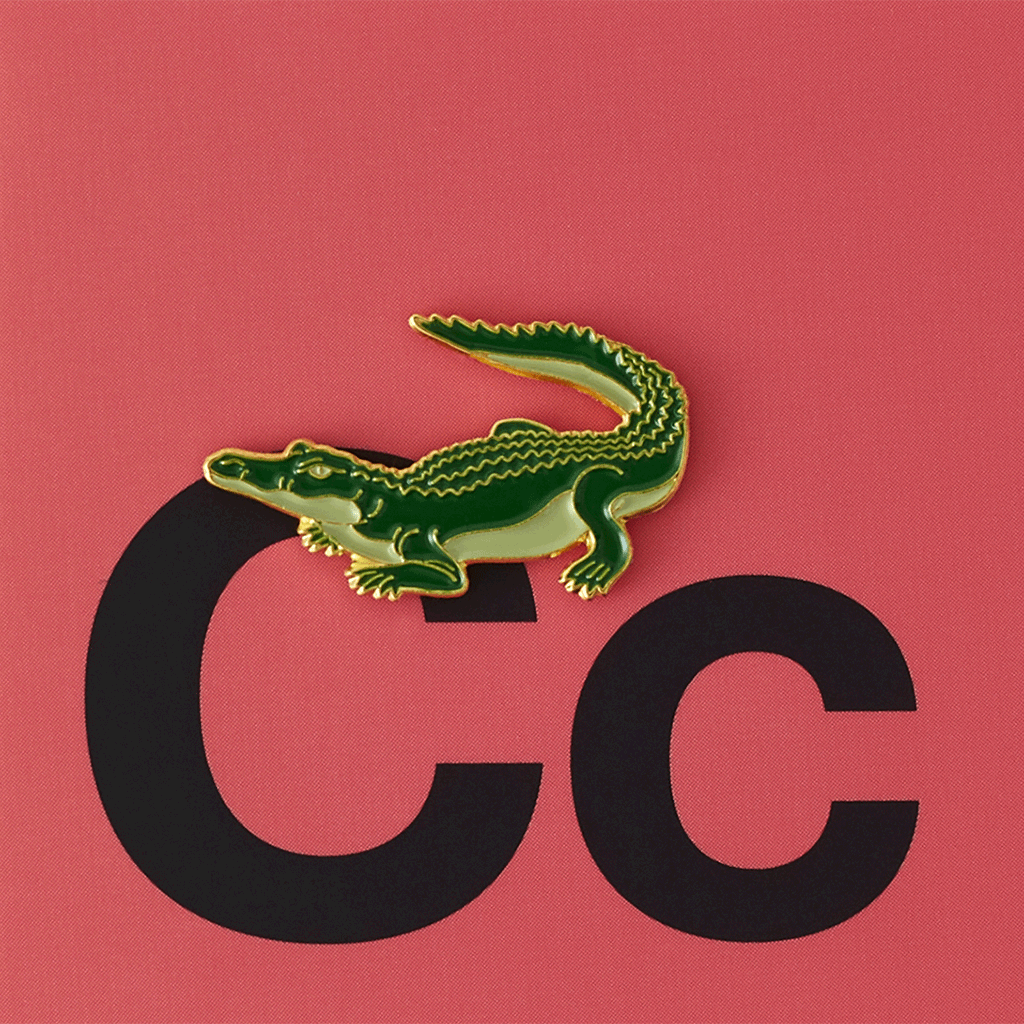 Значок металлический Зоопарк: Крокодил