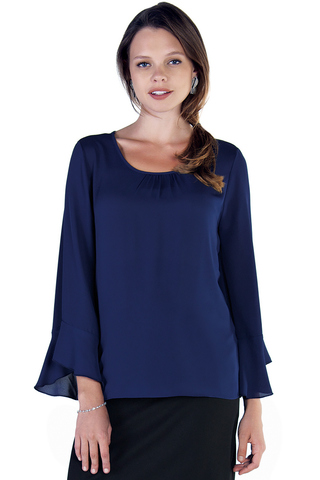Блузка для беременных 10059 синий