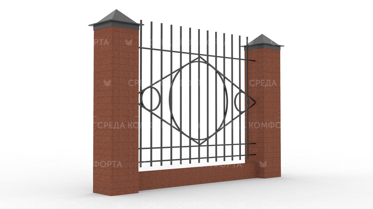Забор из профильной трубы ZBR0144