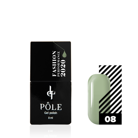 Гель-лак POLE Fashion Performance 2020 №08 chive (8 мл.)