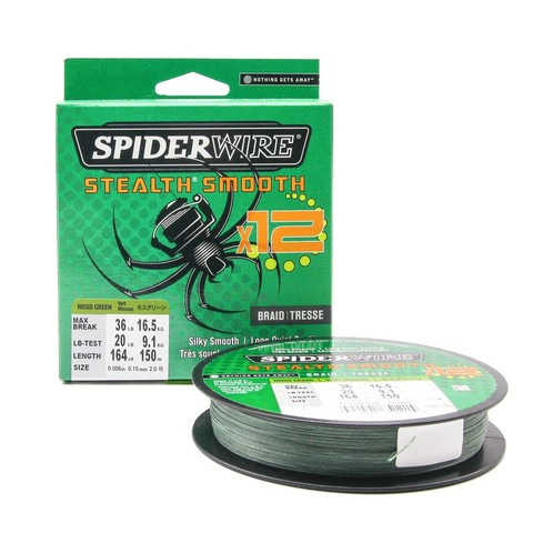 Плетеная леска Spiderwire Stealth Smooth 12 Braid Темно-зеленая 150м 0,15мм 16,5кг