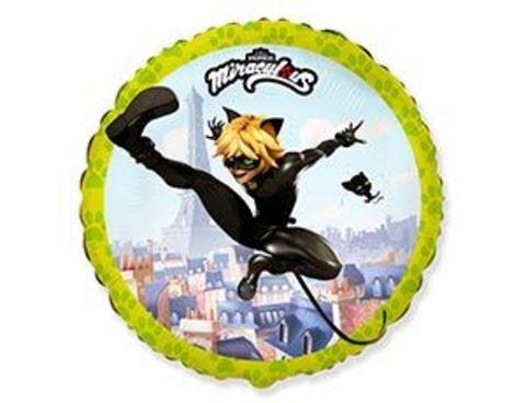 Фольгированный шар Леди Баг Супер Кот летящий