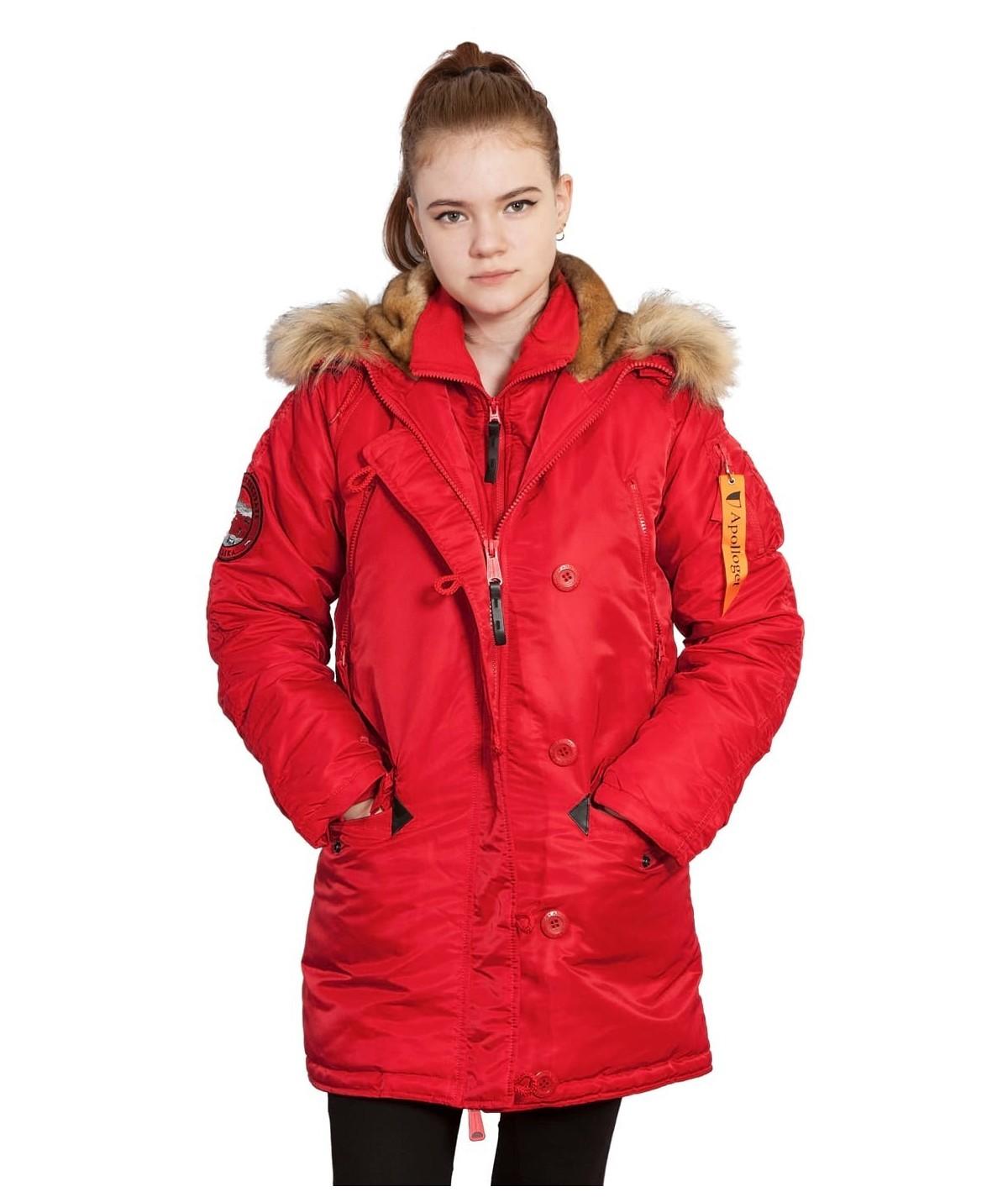 Куртка Аляска Женская - Apolloget Alaska Wmn 2020 (красная - flag red)