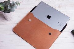 Винтажный кожаный чехол Gmakin для iPad на кнопках