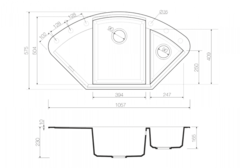 Схема Omoikiri Sakaime 105C-CH