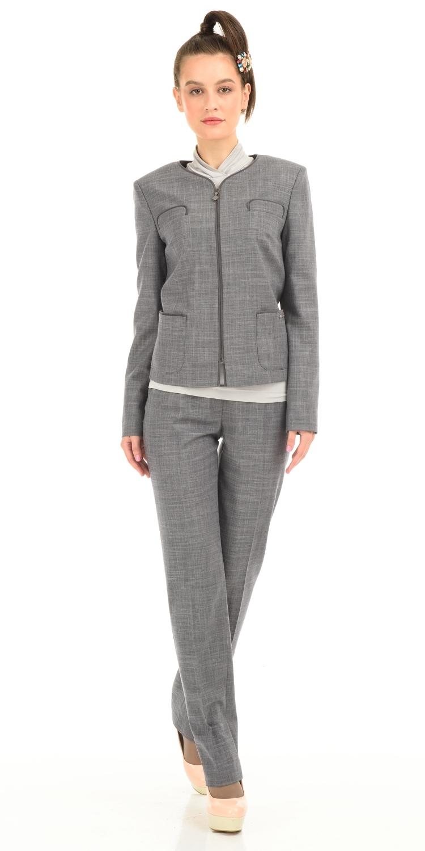 Жакет Д465-110 - Жакет прямого силуэта с застежкой-молнией и накладными карманами. Прекрасный вариант для офиса - сочетается со многими видами юбок и брюк. В повседневном образе будет отлично смотреться с джинсами.