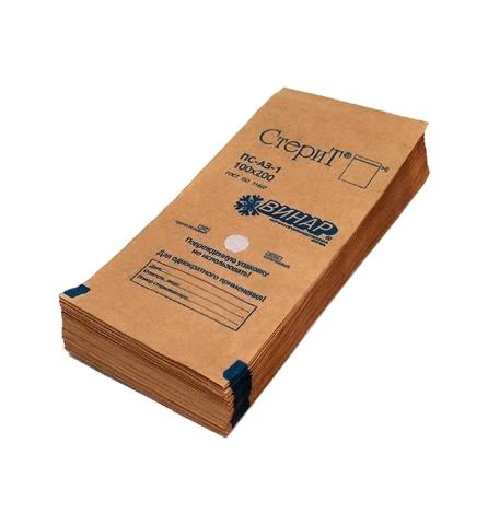 Крафт-пакеты ВИНАР 10х20см 100шт/уп. ПС-АЗ-1